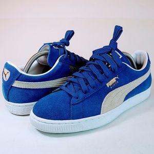 NEW Puma Classics Blue Suade Old School Sneakers